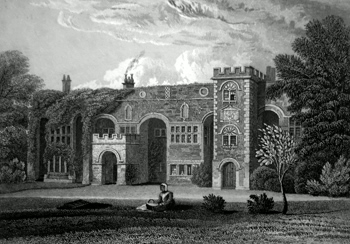 ANTIQUE PRINT: HALE HALL. LANCASHIRE.