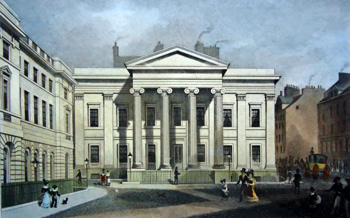 ANTIQUE PRINT: NEW COUNTY HALL, AND ADVOCATE'S LIBRARY, EDINBURGH.
