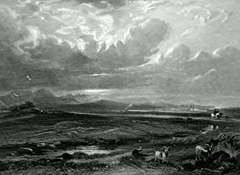 ANTIQUE PRINT: CULLODEN MOOR.