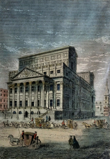 ANTIQUE PRINT: THE MANSION HOUSE IN 1750. (FROM A PRINT PUBLISHED FOR STOW'S
