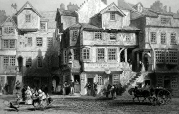 ANTIQUE PRINT: THE HOUSE OF JOHN KNOX. (HIGH-STREET EDINBURGH).