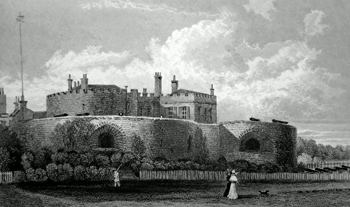 ANTIQUE PRINT: WALMER CASTLE, KENT.