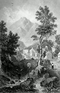 ANTIQUE PRINT: SKIDDAW, FROM APPLETHWAITE.