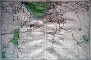 ANTIQUE MAP: [SURBITON, THAMES DITTON, ETC].