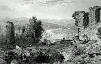 ANTIQUE PRINT: KENDAL, FROM THE CASTLE.