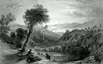 ANTIQUE PRINT: VALLEY OF TROUTBECK, WESTMORLAND.