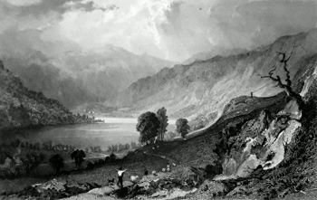 Antique print of Haweswater