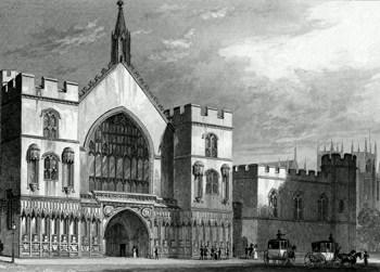 ANTIQUE PRINT: WESTMINSTER HALL.