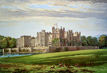 ANTIQUE PRINT: RABY CASTLE.