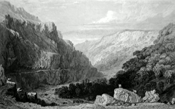 ANTIQUE PRINT: [LYNMOUTH] VALLEY OF LINMOUTH, NORTH DEVON.