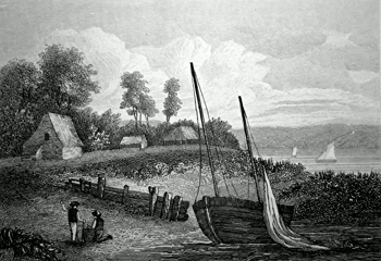 ANTIQUE PRINT: NEAR TEIGNMOUTH, DEVON.
