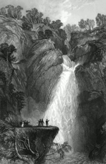 ANTIQUE PRINT: FALL OF FOYERS. (INVERNESSHIRE.)