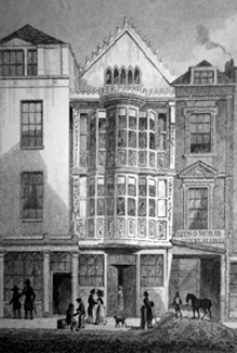 ANTIQUE PRINT: SIR PAUL PINDAR'S HOUSE, BISHOPSGATE STREET.