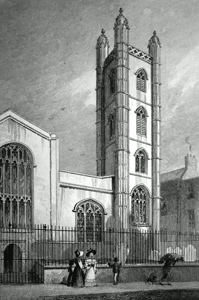 ANTIQUE PRINT: ST. MARY, ALDERMARY.