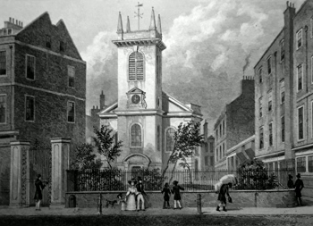ANTIQUE PRINT: ST. OLAVE JEWRY, OLD JEWRY.