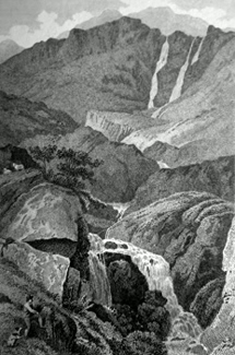 ANTIQUE PRINT: [GALEFORTH SPOUT] GELLFORTH SPOUT, IN LONG-SLE-DALE, WESTMORELAND.
