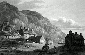 ANTIQUE PRINT: BARMOUTH, NORTH WALES.