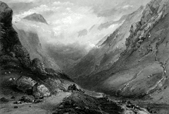 ANTIQUE PRINT: VALE OF GLENCROE. ARGYLESHIRE.