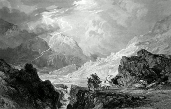 ANTIQUE PRINT: GLENCROE BETWEEN LOCH LONG AND CAIRN DHU.