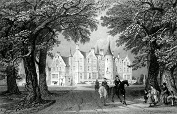ANTIQUE PRINT: TYNINGHAME HOUSE, HADDINGTON. (THE SEAT OF THE EARL OF HADDINGTON.)