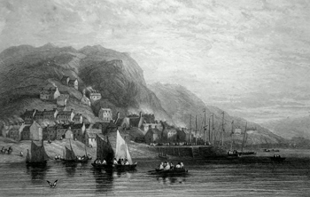 ANTIQUE PRINT: BARMOUTH.