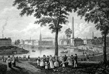Antique print of Glasgow