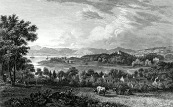 ANTIQUE PRINT: [INVERKIP] INNERKIP AND ARDGOWAN HOUSE.