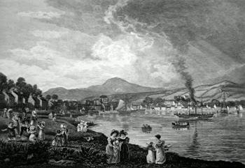 ANTIQUE PRINT: ROTHESAY. FROM THE SOUTH EAST.