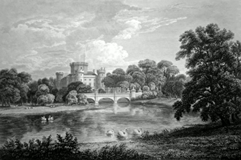 ANTIQUE PRINT: EGLINTON CASTLE, THE SEAT OF THE RIGHT HONB.L.E THE EARL OF EGLINTON.