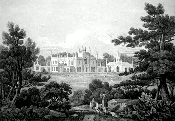 ANTIQUE PRINT: FARLEIGH HOUSE : SOMERSETSHIRE.