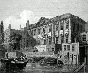 ANTIQUE PRINT: FISHMONGERS HALL.