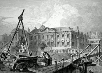 ANTIQUE PRINT: FISHMONGERS HALL. – LONDON.