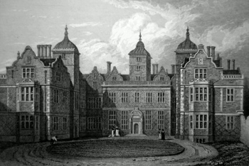 ANTIQUE PRINT : ASTON HALL, WARWICKSHIRE. LATE THE RESIDENCE OF JAMES WATT, ESQ. F.S.A.