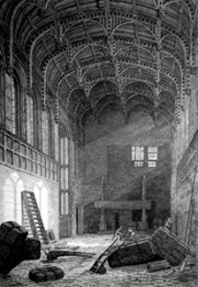ANTIQUE PRINT: INTERIOR OF CROSBY HALL.