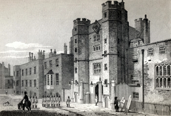 ANTIQUE PRINT: ST JAMES'S PALACE (NORTH WEST VIEW).