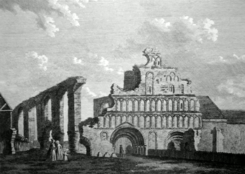 ANTIQUE PRINT: ST. BOTOLPH'S PRIORY COLCHESTER. PL. 1.