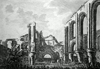 ANTIQUE PRINT: ST. BOTOLPH'S PRIORY. PL. 2.