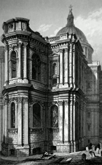 ANTIQUE PRINT: ST. PAUL'S CATHEDRAL, VIEW OF THE EAST END.