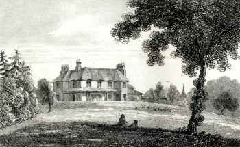 ANTIQUE PRINT: WESTHILL COTTAGE NEAR COWES, LORD FITZHARRIS.