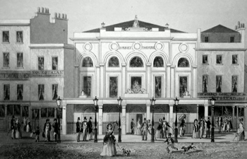 ANTIQUE PRINT: SURREY THEATRE.