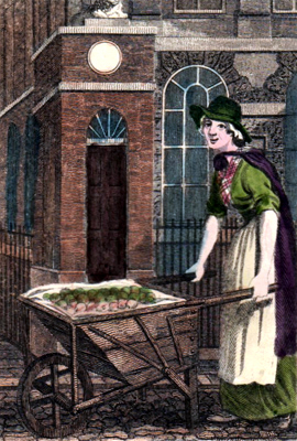 ANTIQUE PRINT: STRATFORD PLACE : BAKING OR BOILING APPLES.