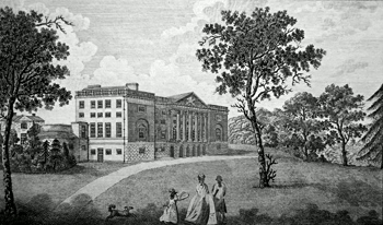 ANTIQUE PRINT: THORNDON PLACE, THE SEAT OF LORD PETRE.