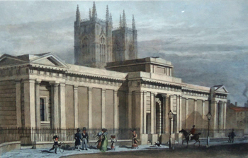 ANTIQUE PRINT: NEW GOVERNMENT MEWS, PRINCES' STREET, STORY'S GATE, WESTMINSTER.