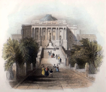 ANTIQUE PRINT: THE ASCENT TO THE CAPITOL, WASHINGTON.