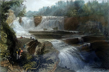 ANTIQUE PRINT: TRENTON HIGH FALLS.
