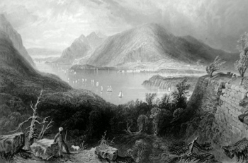 ANTIQUE PRINT: VIEW FROM FORT PUTNAM. (HUDSON RIVER.)