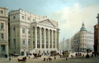 ANTIQUE PRINT: THE MANSION HOUSE.
