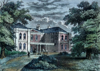 ANTIQUE PRINT: LIME GROVE, PUTNEY, IN 1810.