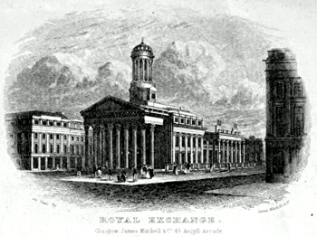 ANTIQUE PRINT: ROYAL EXCHANGE [GLASGOW].
