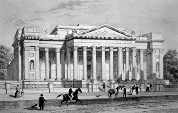 ANTIQUE PRINT: THE FITZWILLIAM MUSEUM. CAMBRIDGE.